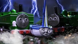 OLIVER AND DUCK NEARLY CRASH! SKIFF SAVES THE DAY! - Blown Away - Thomas & Friends REMAKE HO/OO