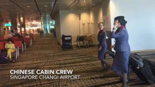 China Airlines Cabin Crew Singapore Changi Airport
