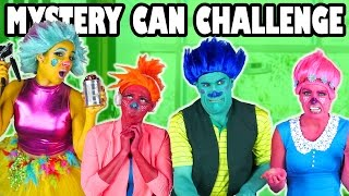 Trolls Mystery Can Challenge Poppy vs Branch vs DJ Suki. Totally TV