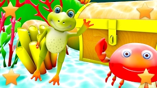 Five Little Speckled Frogs | Nursery Rhymes | Kids Song | 3D Baby Rhymes by Little Treehouse