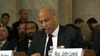 Cory Booker testifies against Sessions