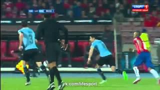 Horrible foul on Alexis Sanchez