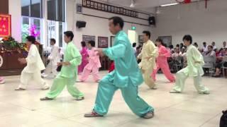 Red Swastika Hong Bao Lunch Taiji 13 Steps Performance 2015