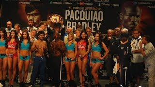 Manny Pacquiao vs. Tim Bradley III Official Weigh-In