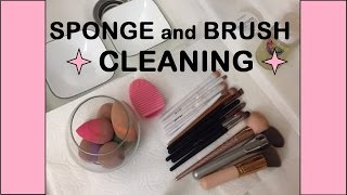 MAKEUP SPONGE AND BRUSH CLEANING 2017