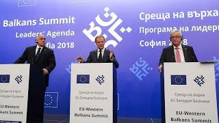 Top EU officials agree joint stance on Iran deal, US trade