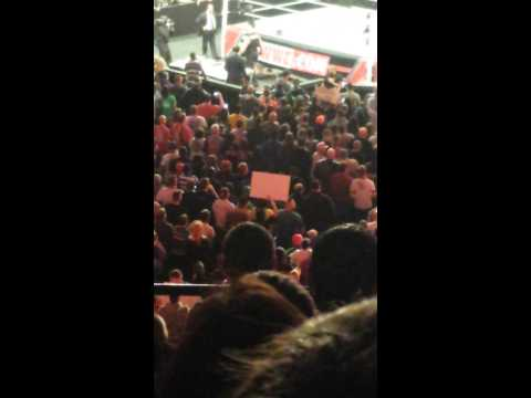 Brock Lesnar hits fan with tv monitor raw 3 3 14