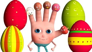 VeeJee Surprise Eggs Finger Family Series   Cake Pop Finger Family Song   3D Animation and Rhymes