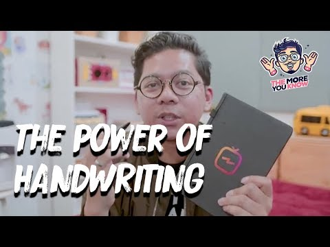 The Power of Handwriting - The More You Know (TMYK)
