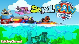 PAW PATROL SEA PATROL Nickelodeon Mission Paw Toys Upgraded Into Paw Patrol Sea Patrol Surprise Toys
