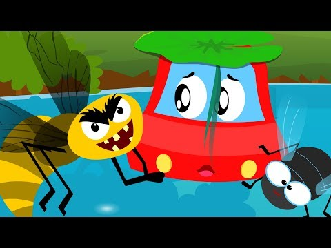Shoo Fly Don't Bother Me | Little Red Car Songs For Children | Cartoons For Toddlers by Kids Channel