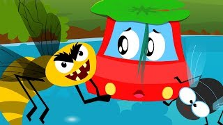 Shoo Fly Don't Bother Me   Little Red Car Songs For Children   Cartoons For Toddlers by Kids Channel