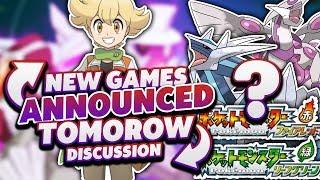 NEW POKEMON GAMES TOMOROW!? - Discussing New Pokemon Games