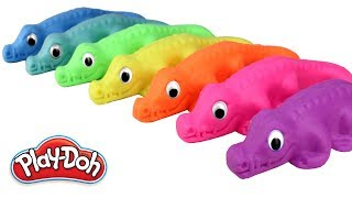 Learn Colors with Play Doh Crocodiles Fun Molds Play Doh Plus Clay Rainbow Colors Fun for Kids
