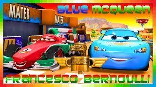 Cars 3 .. 2 .. 1 .. Go !!! - ENGLISH - BLUE McQueen & Francesco ( CARS - FAST AS LIGHTNING )