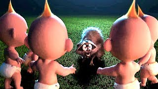 """INCREDIBLES 2 """"Jack Jack Army Fights Raccoon"""" FULL Movie Clip (Animation, 2018)"""