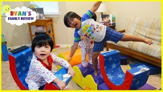 Obstacle Course Pretend Play with Ryan, Emma , and Kate!!!
