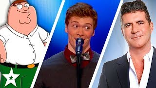 Daniel Ferguson Impressionist Takes On Simon Cowell On America's Got Talent | Got Talent Global