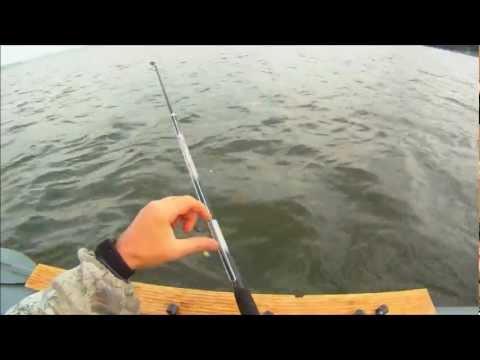 ловля леща с лодки в отвес видео