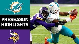 Dolphins vs. Vikings   NFL Preseason Week 4 Game Highlights