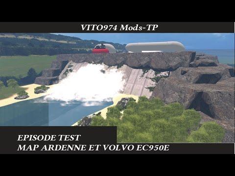 Extraction map Ardenne en Volvo Ec950E