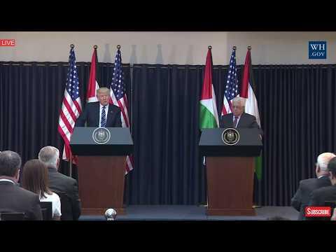 POWERFUL President Donald Trump Palestine Speech Press Conference President Abbas Bethlehem Speech