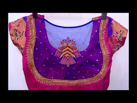 Trendy net blouse designs