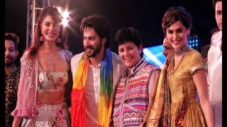 Judwaa 2 Team Attends Garba Night With Falguni Pathak For Movie Promotion