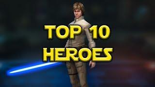 Star Wars: Galaxy Of Heroes - Top 10 Best Heroes September 2017