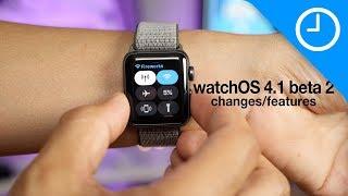 New watchOS 4.1 beta 2 features / changes!