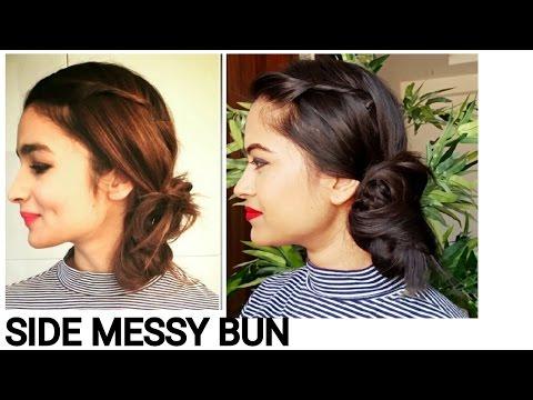 Xxx Mp4 Alia Bhatt Side Messy Bun Everyday Easy Hairstyles For Medium Long Hair Indian Hairstyles 3gp Sex