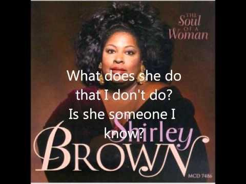 Shirley Brown Who is Betty Lyrics