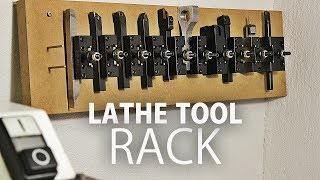Making a Simple Rack for my Lathe Tools