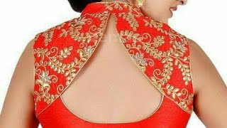 Back neck design with collar for blouse  designer back neck with collar cutting and stitching