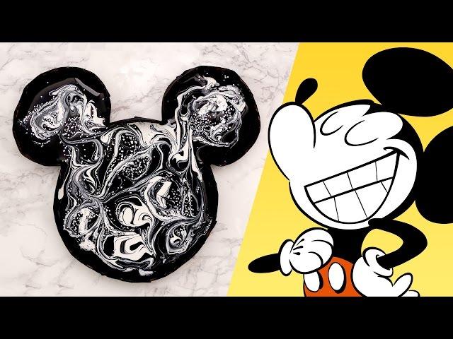 Mickey Mouse Marble Art | Disney Family DIY