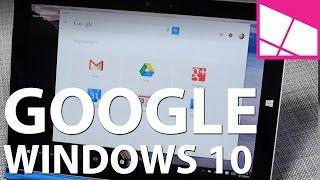 Google app on Windows 10