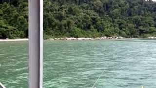 Muka Head jetty in a small bay