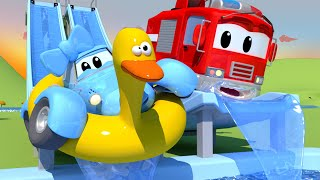 The Flume - The Car Patrol in Car City Police Car & Fire Truck for Kids