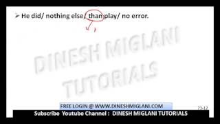 COMMON ERRORS IN ENGLISH PRACTICE SESSION 1 FOR HINDI MEDIUM FOR SSC CGL CHSL