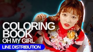 OH MY GIRL - Coloring Book : Line Distribution (Color Coded)