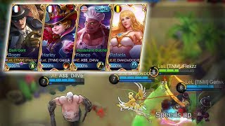 THE BEST TEAM IN THE WORLD! Ft. AkosiDogie, Gemik & Dave! - Mobile Legends