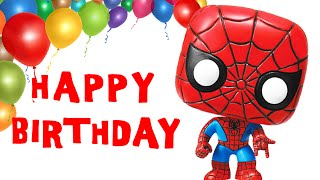 Spider-man Sings Happy Birthday Song Greetings - Marvel Heroes Theme Party Celebration