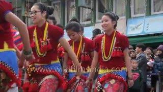 Dance parade by Himalayan communities - Rai, Limbu and Lepcha