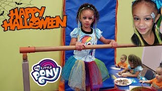 Halloween Trick or Treat Candy Party! My Little Pony Rainbow Dash Costume + Makeup