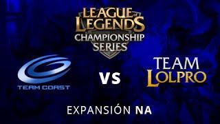 Team Coast vs Team LoLPro - Mapa 1 - Ronda 2 - LCS Expansion NA - Español