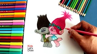 Cómo dibujar a los personajes de TROLLS | How to draw Poppy and Branch (Trolls)