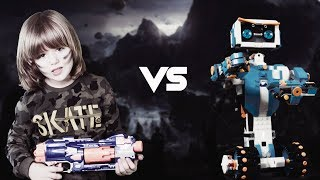 Per FEMIJE vjen Gertiti dhe Roboti Lego | GERTIT vs Lego Robot MACHINE Battle | Cartoons for Kids