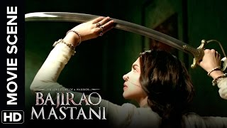 Deepika Practices Her Sword Skills | Bajirao Mastani | Movie Scene