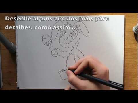 Como desenhar o coelhinho da Páscoa Fácil passo a passo
