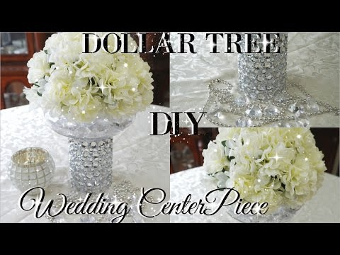 Diy Dollar Tree Bling Floral Wedding Centerpiece 2017 Petalisbless
